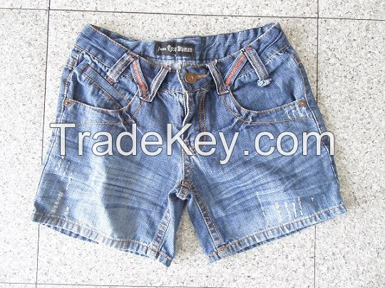 Used Clothing Adult Blue Jean Short Pants for Africa market