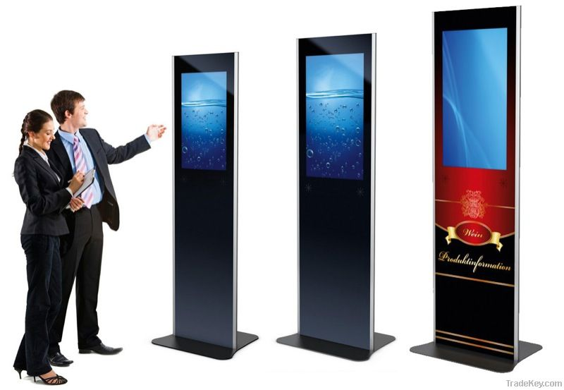 Digital signage totem phex stand by ekiosk gmbh germany for Totem stand