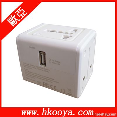 Travel Adapter With 2.1A USB Charger