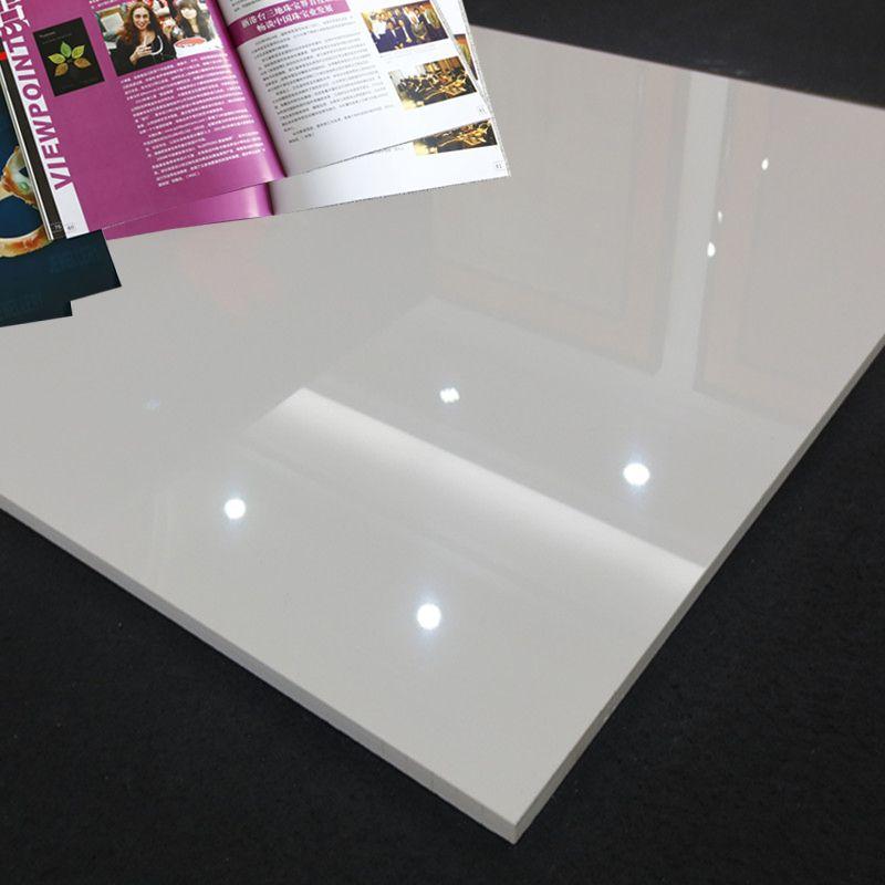 White shiny floor tiles