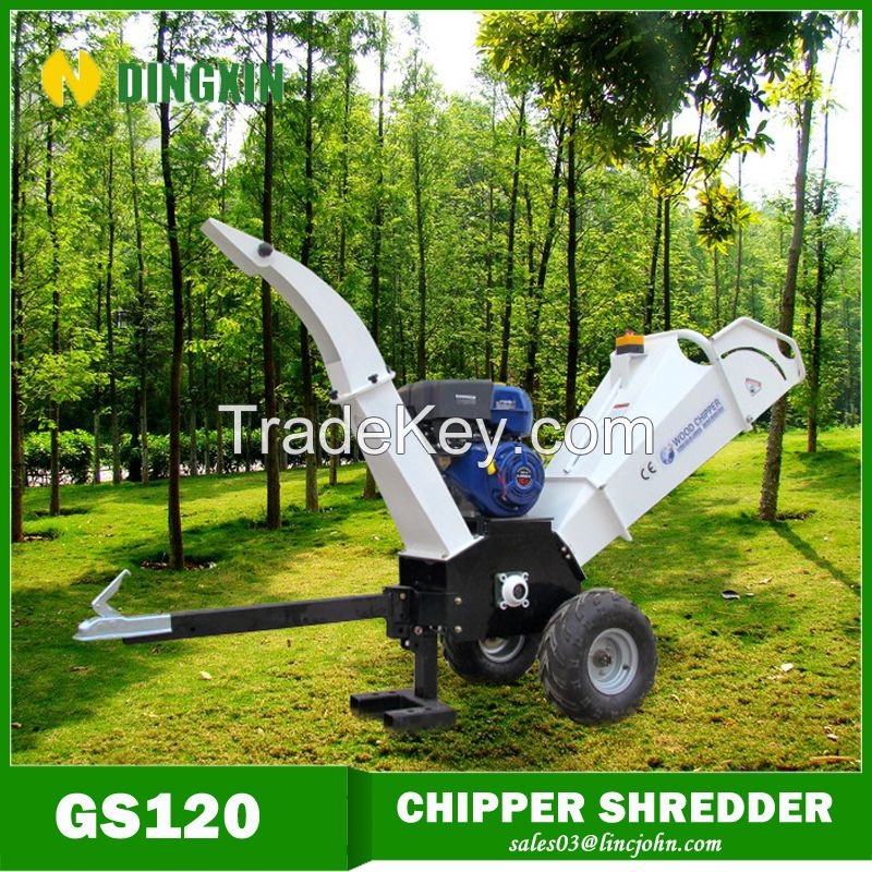 Gasoline 15hp atv wood chipper for garden