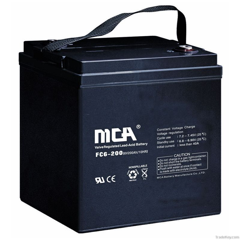 general agm batteries 6v 200ah by mca battery manufacture. Black Bedroom Furniture Sets. Home Design Ideas