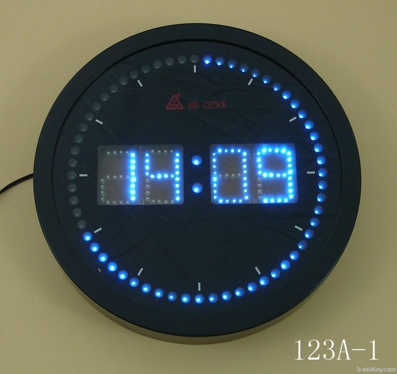 Led digital wall clock by jidelong fujian china Digital led wall clock