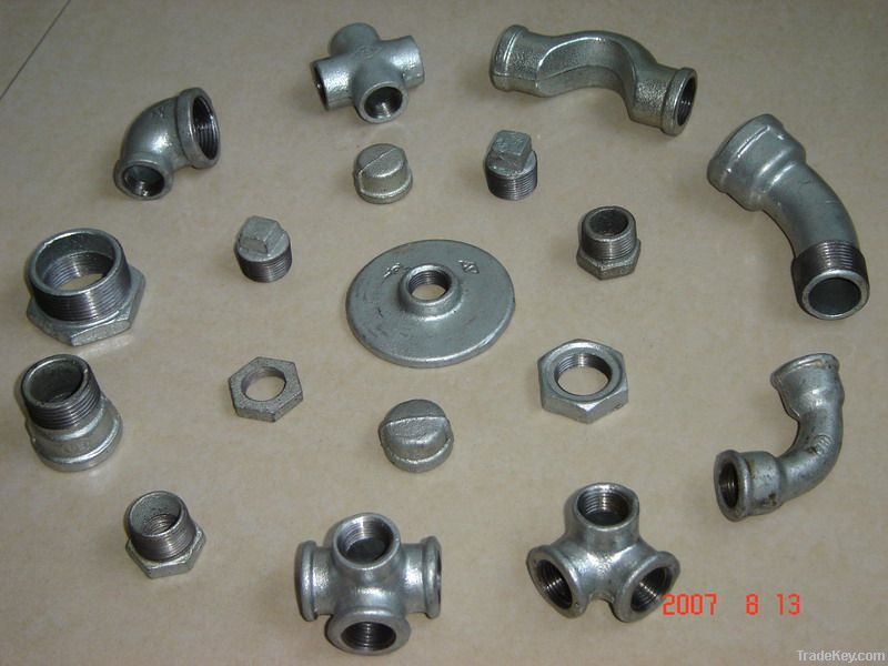 Iron pipe fittings ducitle flange tee fitting