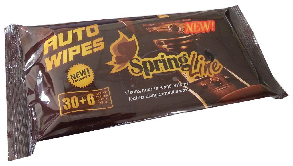 Spring Line dashboard wet wipes 36
