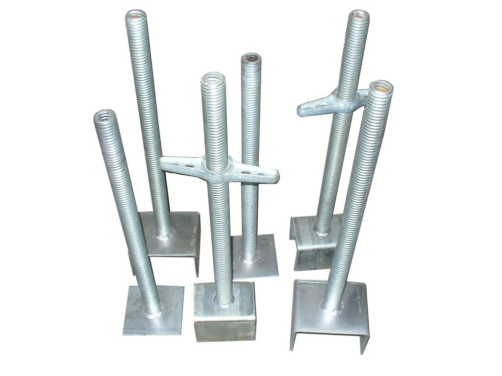 Screwed scaffold Jack base and U-head, hollow jack base, solid jack base