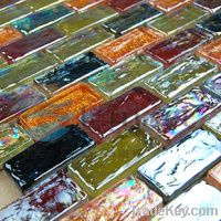 pure Iridescent mosaic, wall tile backsplash, kitchen tiles