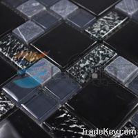 Stone mixed glass mosaic, wall tile backsplash, kitchen tiles