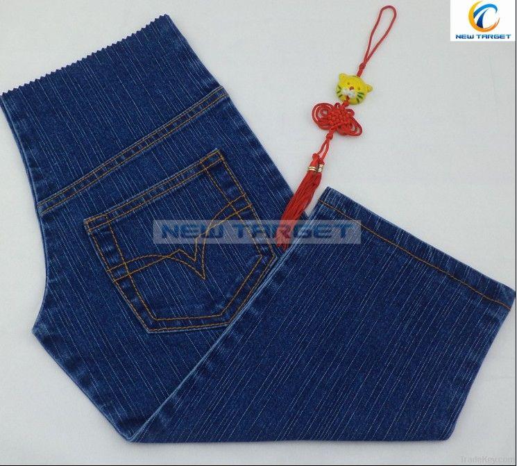 cotton polyester spandex slub denim fabric