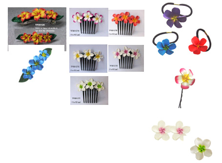 Fimo Clay Plumeria Hair Accessories
