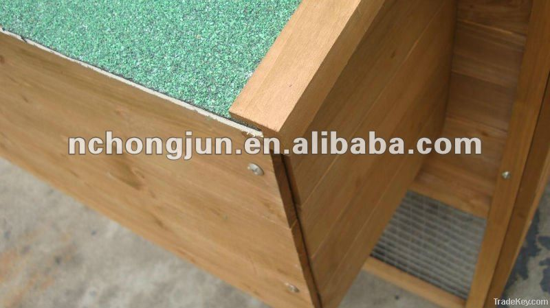 2012 New Design Large Wooden Chicken Coop With Asphalft Roof HJB112-H