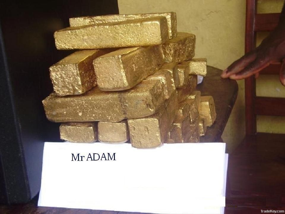 Pure Raw Gold Dust, Pure Raw Gold Bars, Unrefined Gold Bars