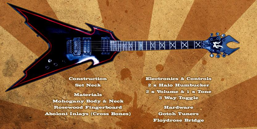 hellfire guitar by halo custom guitars inc usa. Black Bedroom Furniture Sets. Home Design Ideas
