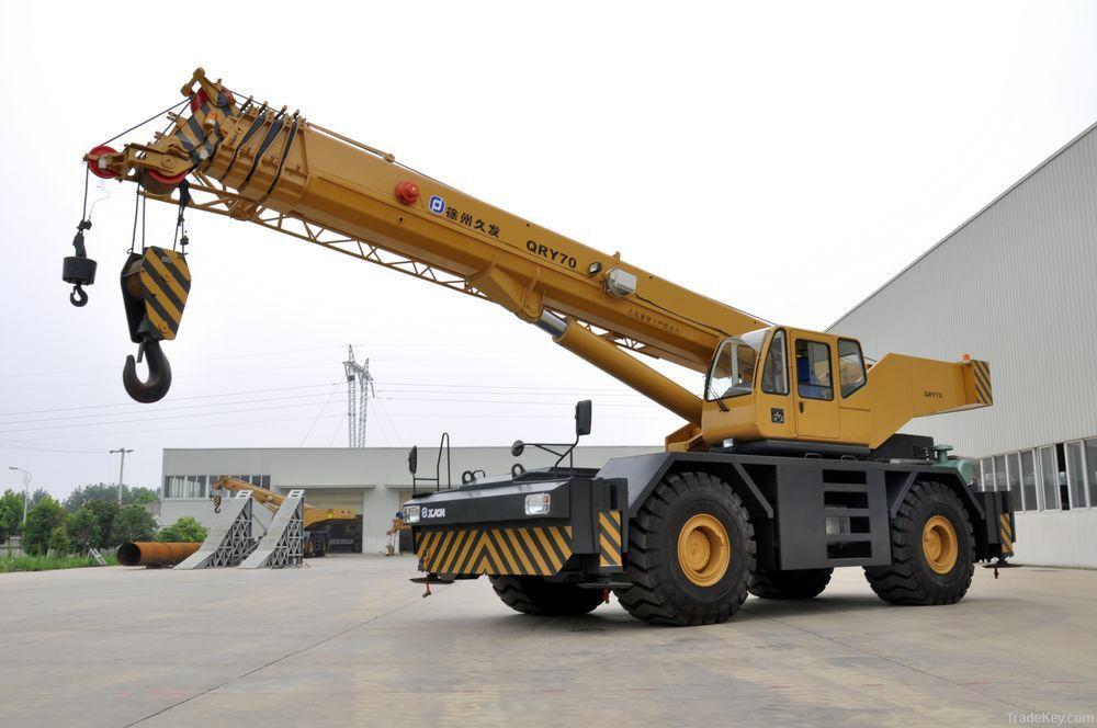 Rough Terrain Crane Application : Rough terrain crane qry truck qy roughterrain