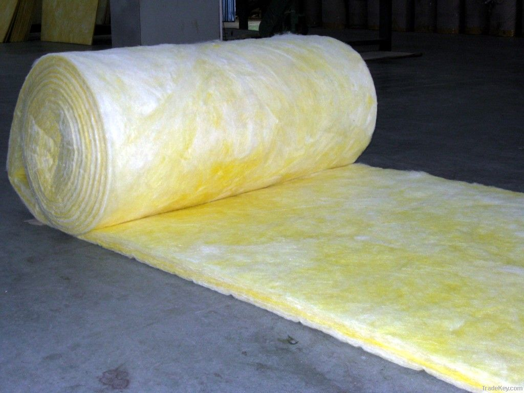Glasswool blanket glass wool roll with as heat for Glass fiber blanket insulation
