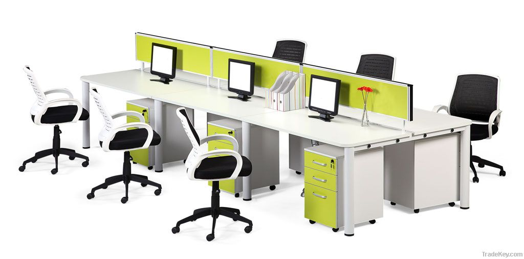6-Seat Office Desk with Partition (LO-01)