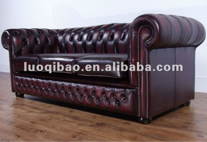 European Style Leather Sofa Set