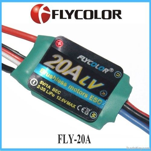 FLYCOLOR 20A 2-4S UBEC 5V/3A ESC for RC aircraft & helicopter