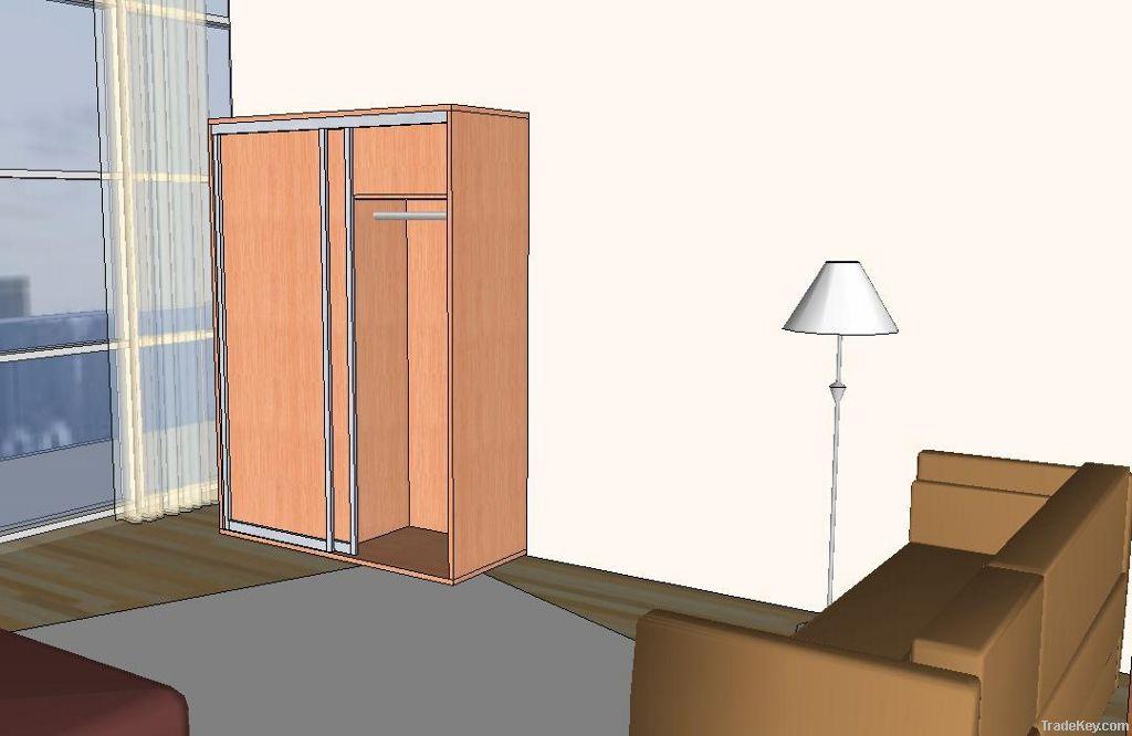 Wardrobe free standing with sliding door