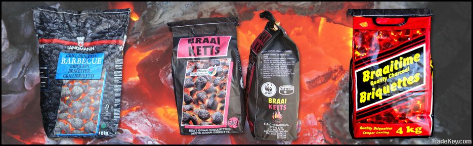 Charcoal And Wood Briquettes