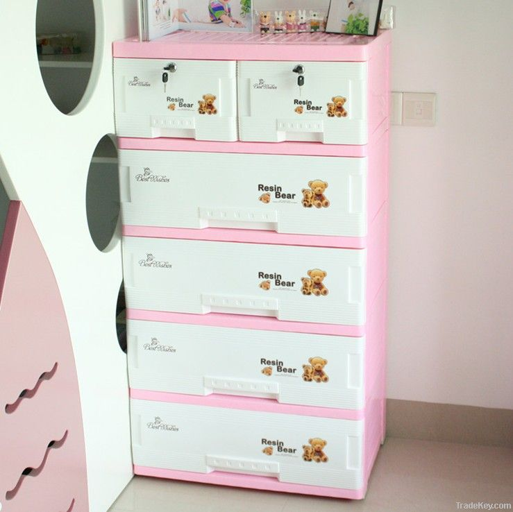 Plastic Filing Cabinet/Storage Cabinet