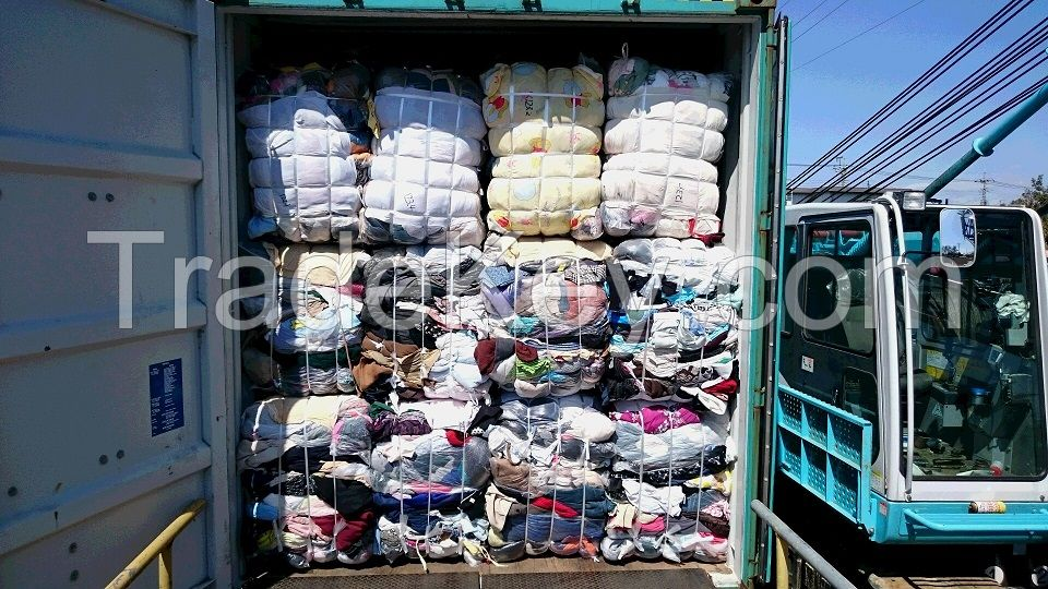used clothing un-touched, sorted, half sorted, regular, shop return