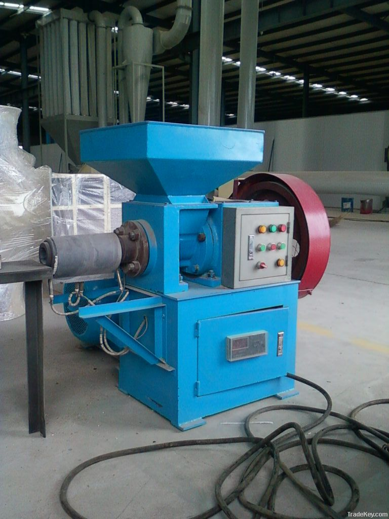 Wood charcoal briquette making machine