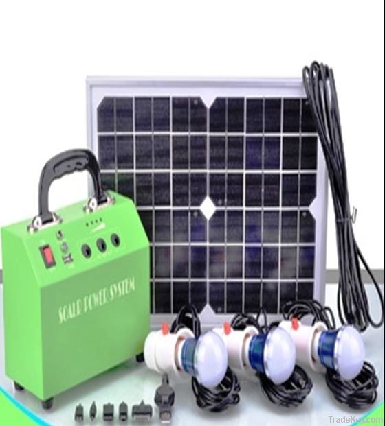 10W solar DC lighting system with 3 leds