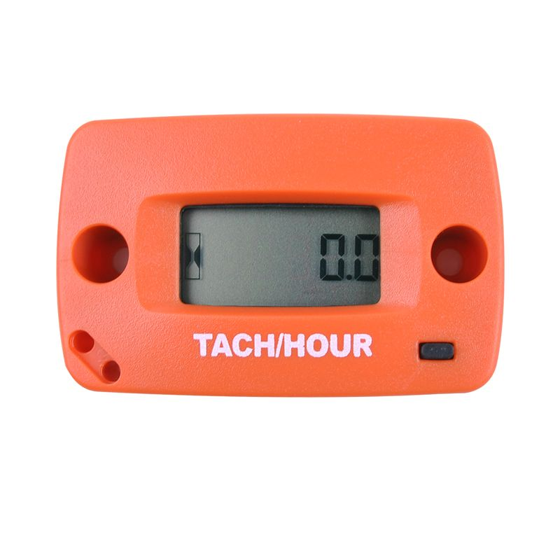 Digital Resettable Induction Tacho Hour Meter Tachometer For Motorcycle Dirt Bike Lawn Mower Marine Boat