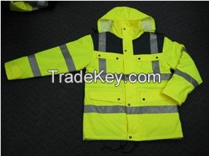 Jacket in high visible colour