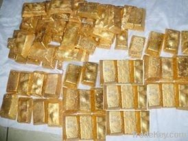 Pure Raw Gold in Dust Form, Gold Dore Bars