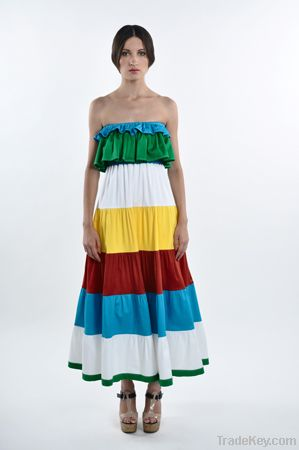 Bright summer long dress by BENGOLARREA