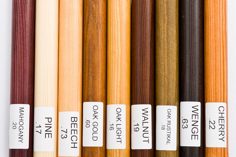 Wood single curtain rod set available in colors pine