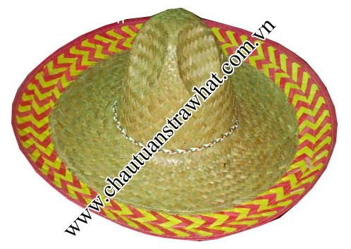 Mexican straw hat, sombrero straw hat