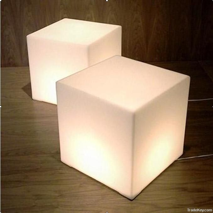 waterproof led cube light with remote control