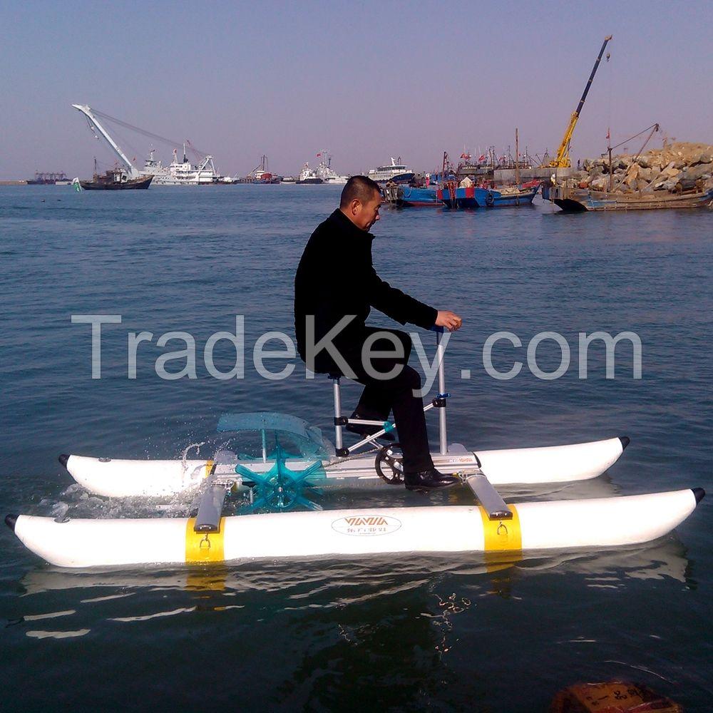 Water Bicycle Water Bike Sea Bicycle Sea Bike Pontoon Pedal Boat