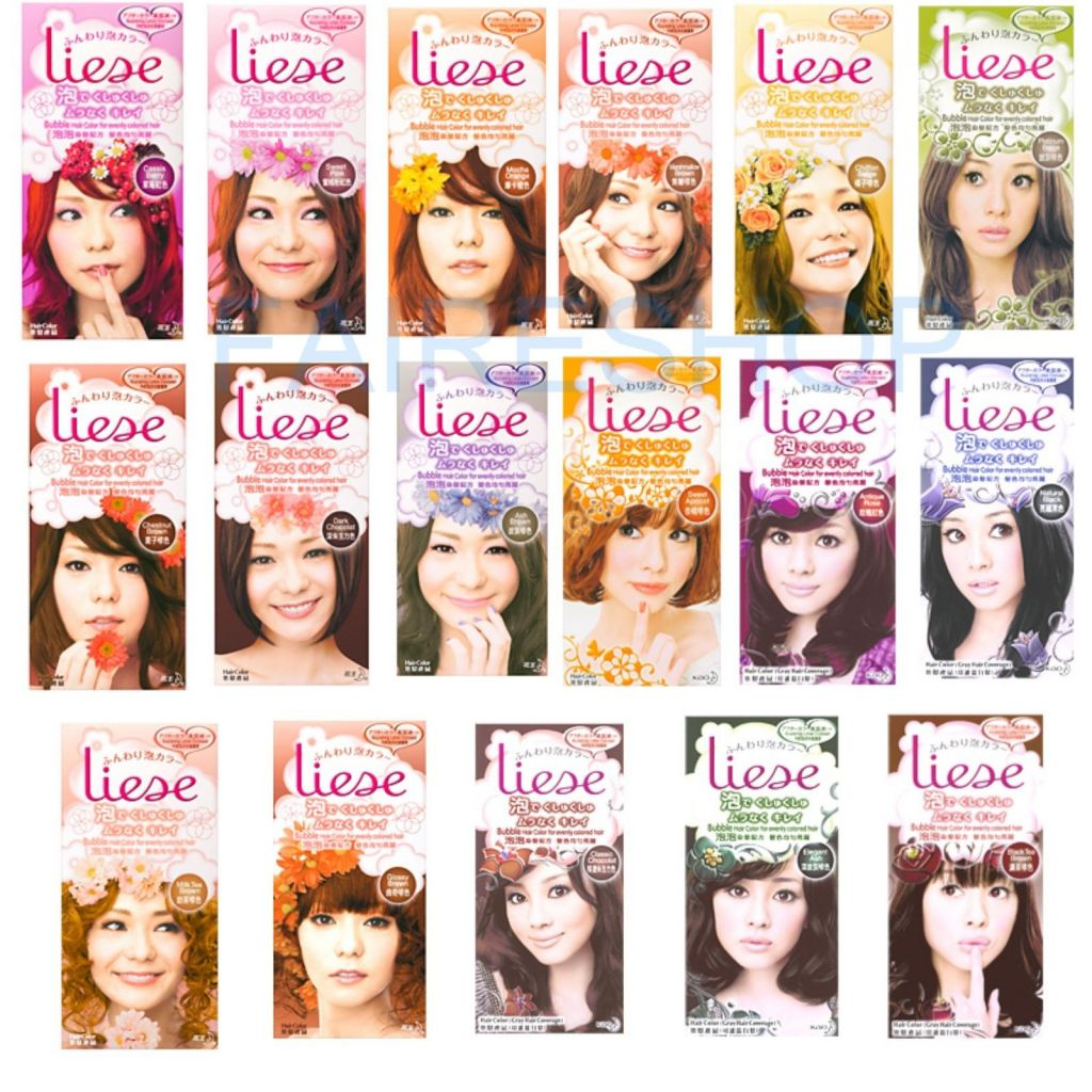Kao Liese Bubble Hair Color Dye 17 Colors Origin Japan 7