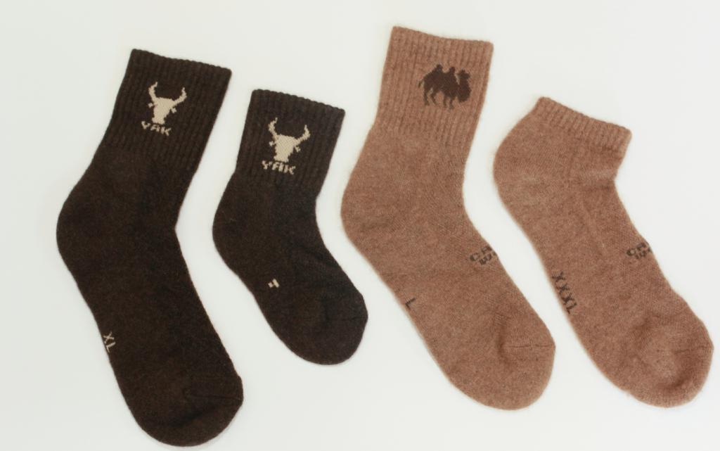 Yak socks (90 % Yak hair). Made in Mongolia