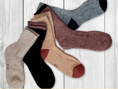 Sheep wool socks (50 % sheepwool, 30 % Viscous, 16 % Spandex, 4 % Nylon)