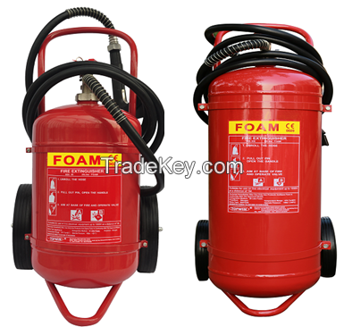 CE(EN3-8) Approved Trolley FOAM Extinguishers 25L 50L