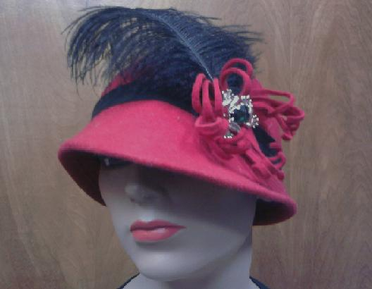 Reproduced 1920's Cloche Hat Style