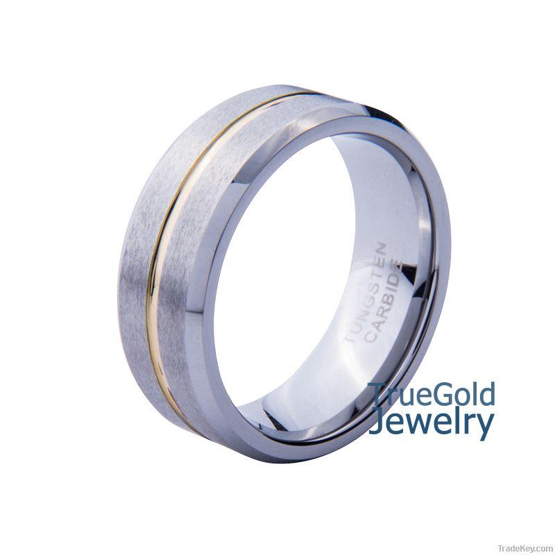 Titanium ring, 2014 fashion gold titanium ring