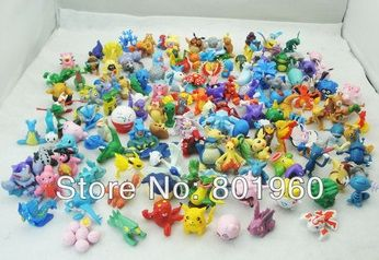 168pcs/set 2-4mm Pokemon Monster action figure plastic games set classic toys for boys