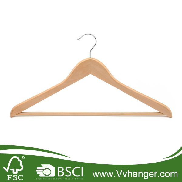 LH001 Solid Wooden Hanger for Clothes, wooden hanger for sale