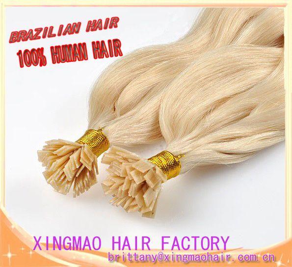 5A grade Malaysian remy hair, pre-bonded hair, flat tip hair