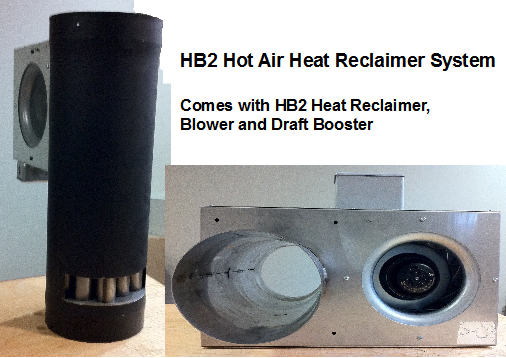 Stove Pipe Heat Reclaimer for Wood Stoves (HB2) - Stove Pipe Heat Reclaimer For Wood Stoves (HB2) By Heat Booster