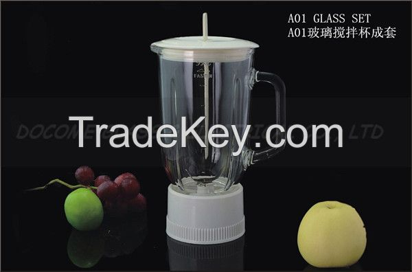 GA-BL-A01 best selling blender replacement glass jar 1.0 litre capacity