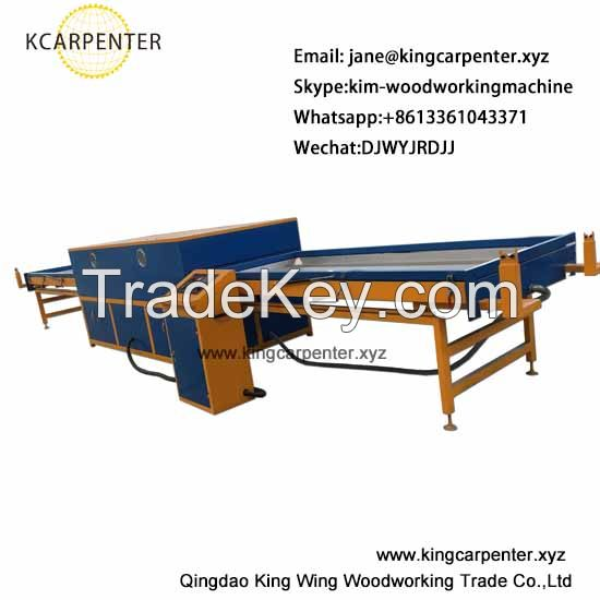 Vacuum membrane pvc wood veneer press machine