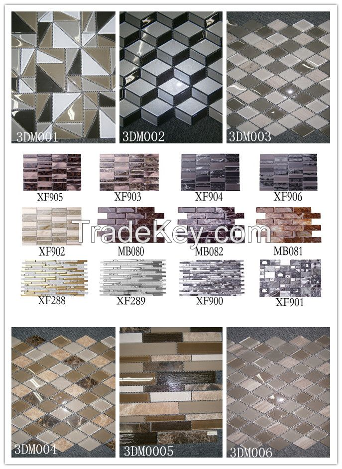 Marble and Glass mix mosaic