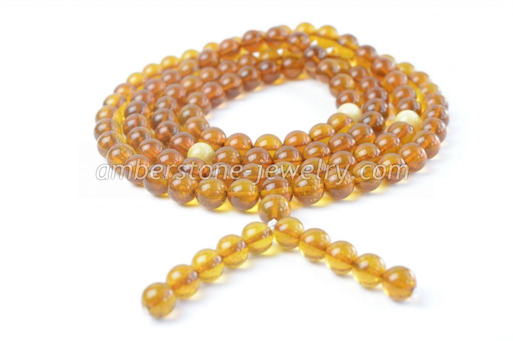 Amber Mila Mala Bracelet 108 Prayer Beads Baltic Amber bracelet Buddhist Rosary